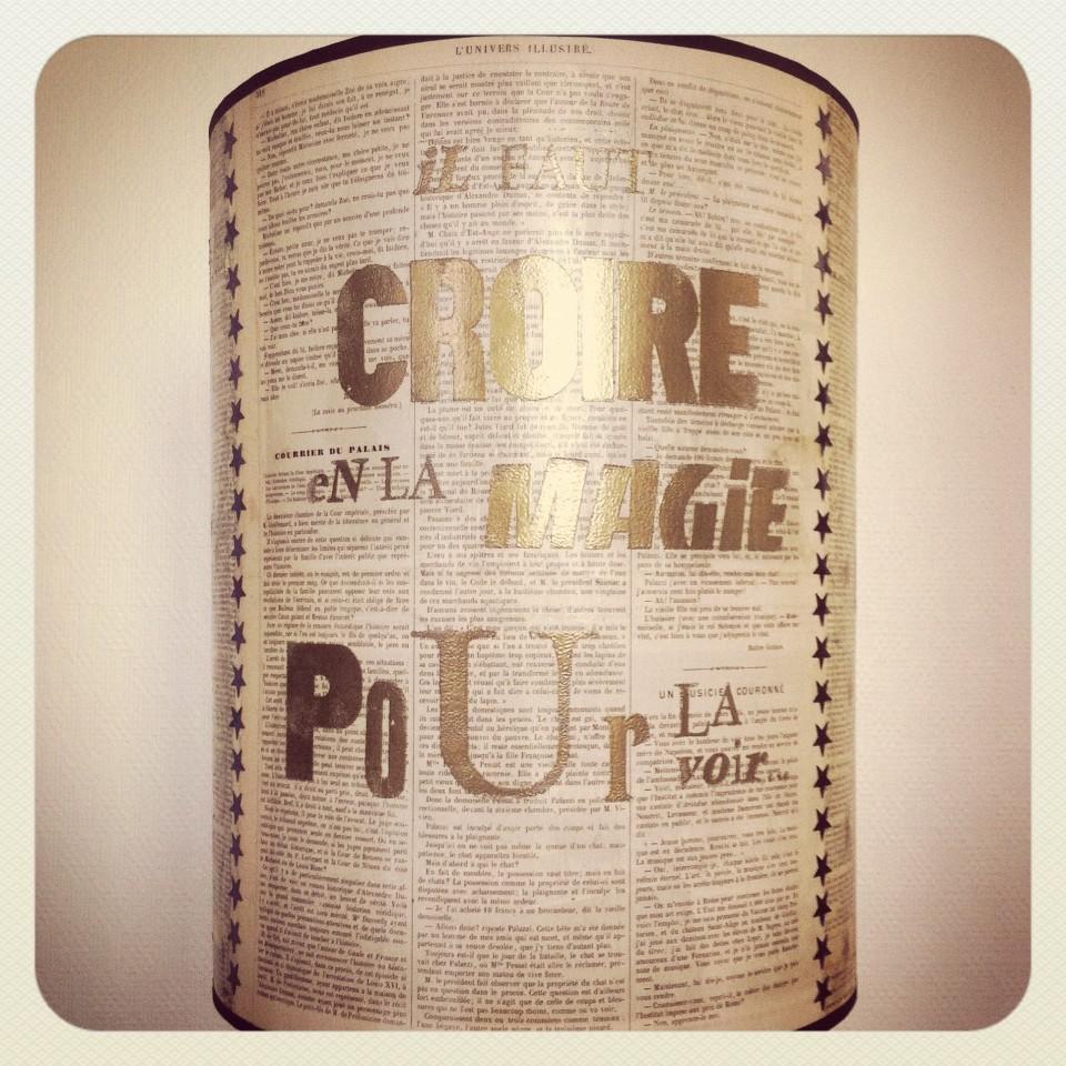 Lampe Luminicous factory & Graine de Carrosse