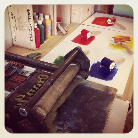 Atelier Initiation Typographie et Linogravure