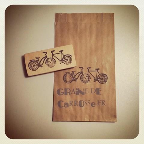 Tampon Vélos Amour Vintage+ Sachet