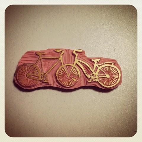 Tampon Vélos Amour Vintage