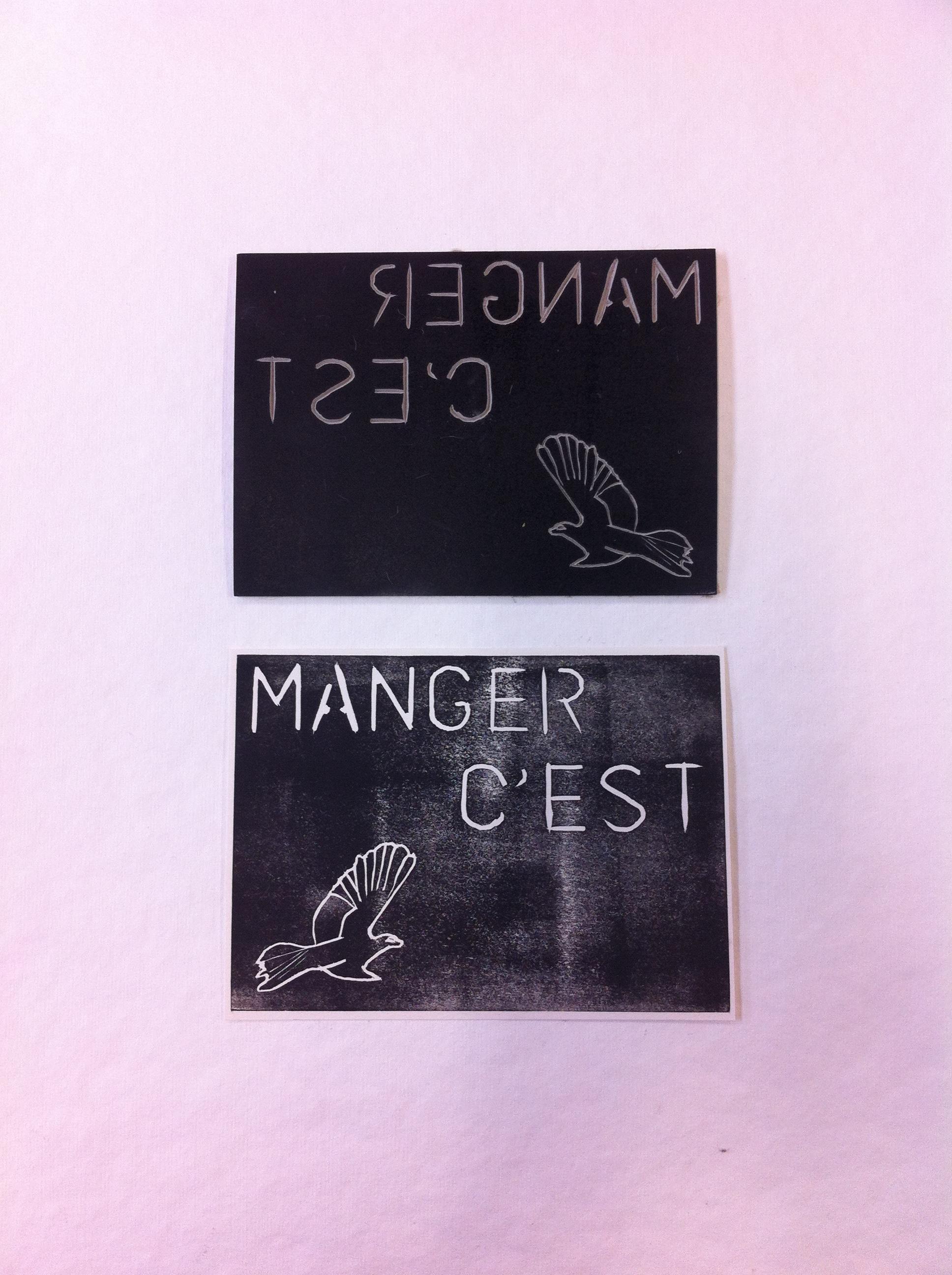 Linogravure avec Graine de Carrosse