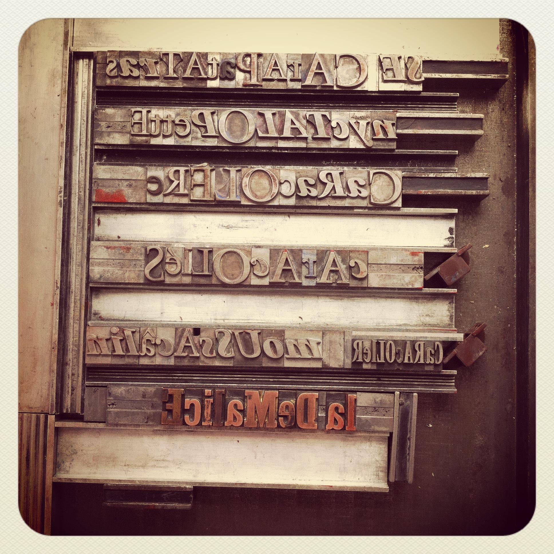 Mot valise Impression Typographique