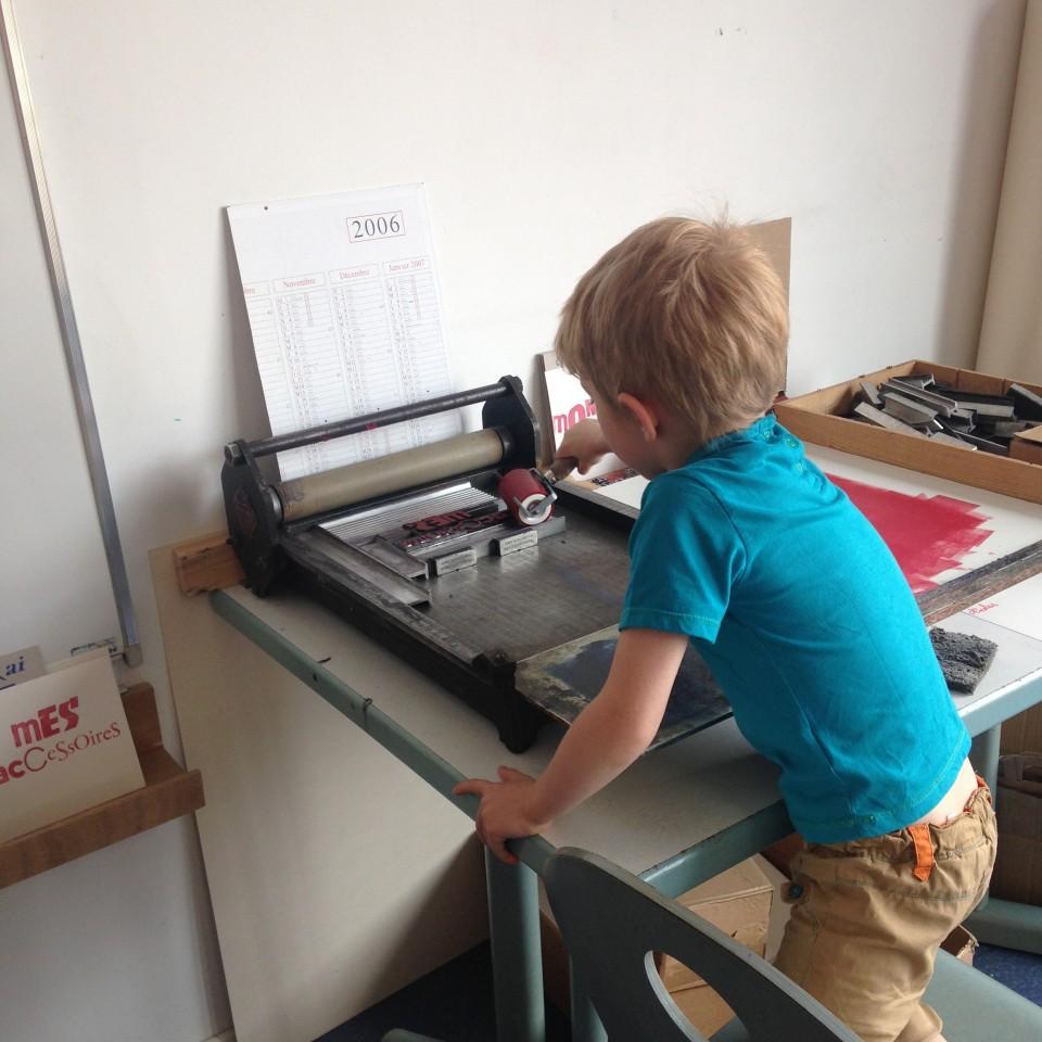 Atelier Letterpress pour enfant Quand je serai grand je serai
