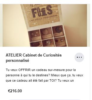 Atelier Cabinet de curiosités Graine de Carrosse Vignette