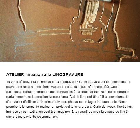 Atelier Linogravure Graine de Carrosse